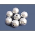 Margele acril sfera 14mm argintiu x5