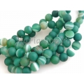 Agate frosted sfere - verde 8mm 3b