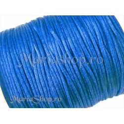 Snur satin albastru, 1mm