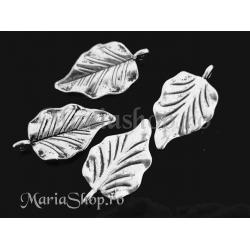 Pandantiv argintiu frunza 32mm