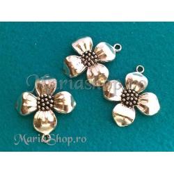 Pandantiv placat cu argint, floare