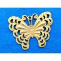 Pandantiv fluture zamac aurit 65mm