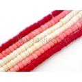 Margele coral rosu cilindru 3.5x5.5