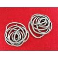 Trandafir zamac argintat pandantiv/link