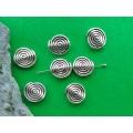 Margele distantiere spirala 12mm x4