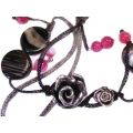 Colier black rose