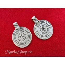 Pandantiv zamac argintat deco spirala