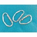 Link zamac argintat oval 40mm