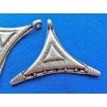 Pandantiv zamac argintat afro tri