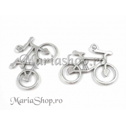 Pandantiv argintat bicicleta 35mm