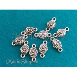 Link trandafir placat cu argint
