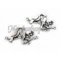 Link zamac argintat 2 porumbei