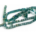 Margele cristal cub 4mm smarald irizatii 10b