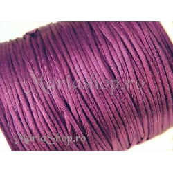 Snur satin st fucsia 1mm 5m