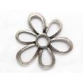 Pandantiv zamac argintat floare 80mm