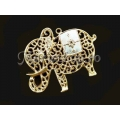 Pandantiv zamac aurit elefant filigran