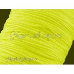 Snur matase cu guta, galben neon - 1mm 5m