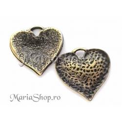 Pandantiv bronz inima embosata