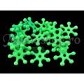 Margele plastic, steluta verde neon 20b