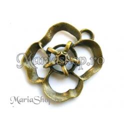 Pandantiv bronz - trandafir dbl1