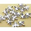 Charm mini libelula argint tibetan x5