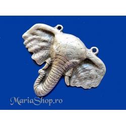 Pandantiv/link zamac Ag elefant bust