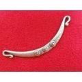 Link zamac argintat colier 118mm