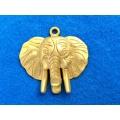 Pandantiv zamac aurit elefant 52mm