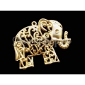 Pandantiv zamac elefant 65mm AU