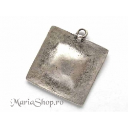 Pandantiv tribal zamac argintat 60x52mm