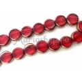 Margele rosii electroplacate pastila 10mm 3b