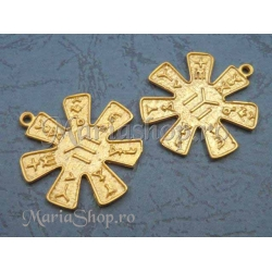 Pandantiv zamac aurit simboluri