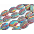 Magnezit color oval flat 25mm 2b
