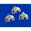 Pandantiv zamac elefant 23x30mm