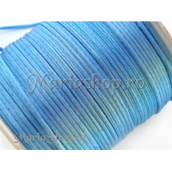 Snur satin bleu 1mm 5m