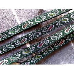 Snur plat etno verde 10mm 50cm