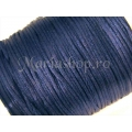Snur satin bleumarine 1mm 5m