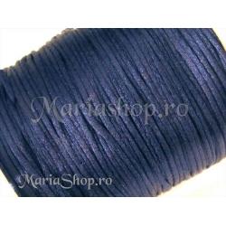 Snur satin bleumarine 1mm 5m
