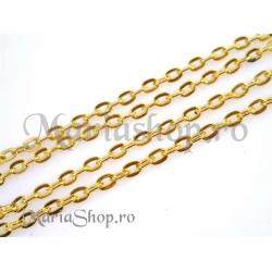 Lant metalic auriu 3x2.5mm 50cm frm