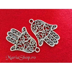 Pandantiv zamac argintat Fatima filigran