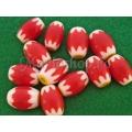 Margele chevron rosu-galben oval 14 2b
