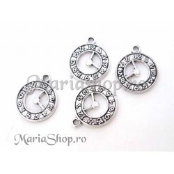Charm argintiu ceas 21x18mm