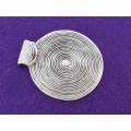 Pandantiv zamac argintat spirala 62x56mm
