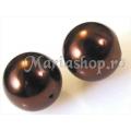 Perle sticla maro mr14 5b