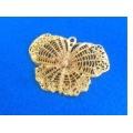 Pandantiv fluture zamac aurit