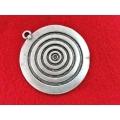 Pandantiv zamac argintat concentric 70mm