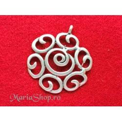 Pandantiv zamac trandafir stilizat