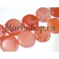 Agate fire peach pastila 25mm 1b