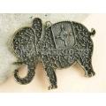 Pandantiv bronz elefant 67x85mm