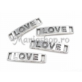 Link argintiu love 28X6.5mm x2